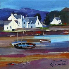 Pam Carter - Beached Boats, Plockton