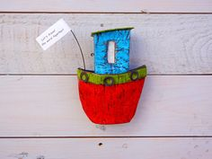 Personalized Artwork Boat Wall Hanging Wall Art Paper Mache