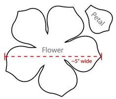 Image result for paper flower petal templates