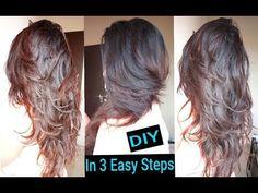 1 Minute Haircut DIY Layered Hair cut The Crunchy Homemaker - little Haircut Diy, Ponytail Haircut, Self Haircut, Cut Own Hair, How To Cut Your Own Hair, How To Layer Hair, Cut Hair Diy, Cut Hair At Home, Trim Your Own Hair
