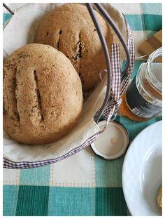 Εύκολο ζυμωτό ψωμί με αλεύρι ολικής άλεσης | mindspinfabrica Muffin, Ice Cream, Bread, Homemade, Breakfast, Desserts, Recipes, Food, No Churn Ice Cream