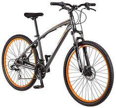 Mongoose 27.5 in Men Seeker Mountain Bike, Grey Orange via https://www.bittopper.com/item/mongoose-275-in-men-seeker-mountain-bike-grey-orange/