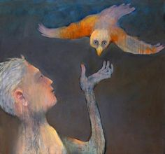 Mel McCuddin-Bird Man-The Art Spirit Gallery of Fine Art