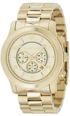 Michael #Kors MK8077 Gold-Tone Men's #Watch