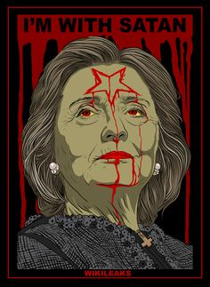 """This image is in reference to the """"Spirit Cooking"""" revealed in John Pedestal's leaked emails via WIKILEAKS Online Posters, Illustration, Caricature, Image, Old Comics, Art, Ink, Original Art, Ink Illustrations"""