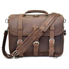 High-Quality Leather Messenger Bags with Genuine Leather Straps Saddle Leather, Leather Briefcase, Cowhide Leather, Cow Leather, Real Leather, Large Messenger Bags, Messenger Bag Men, A 17, Large Bags