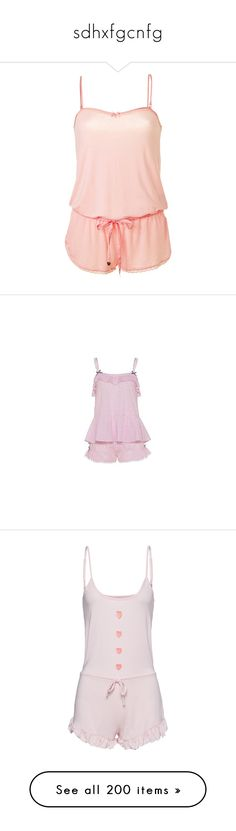 """""""sdhxfgcnfg"""" by daddyslittleslut on Polyvore featuring rompers, pajamas, dresses, pijama, sleepwear, juicy couture, intimates, lingerie, slimming camisole and lingerie pajamas"""