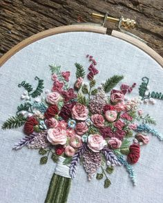Wonderful Ribbon Embroidery Flowers by Hand Ideas. Enchanting Ribbon Embroidery Flowers by Hand Ideas. Brazilian Embroidery Stitches, Learn Embroidery, Embroidery Hoop Art, Cross Stitch Embroidery, Flower Embroidery, Hardanger Embroidery, Silk Ribbon Embroidery, Wedding Embroidery, Floral Embroidery Patterns