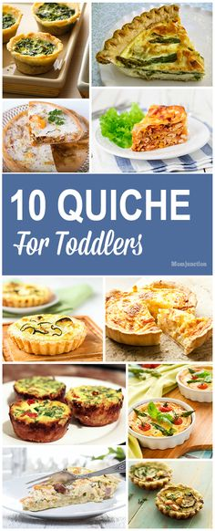 10 Delicious Quiche For Toddlers : Does your toddler kick up a fuss when you serve him vegetables? Want to know how to incorporate healthy foods into his diet? Here are 10 quiche for toddlers # Baby Food Recipes, Snack Recipes, Cooking Recipes, Healthy Recipes, Healthy Foods, Baked Recipes For Toddlers, Pancake Recipes, Baby Recipes, Healthy Lunches
