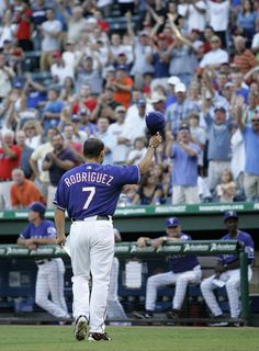 to Pudge's return to Texas in Rangers Baseball, Texas Rangers, Baseball Wall, Southern Women, World Of Sports, Diamond Are A Girls Best Friend, Cowboys, How To Memorize Things, Golf