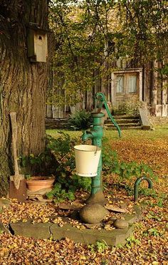 Grandparents had one in the front yard of the farm. Country Farm, Country Life, Country Living, The Farm, Esprit Country, Old Water Pumps, Old Barns, Yard Art, Farm Life