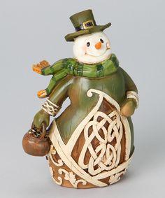 Another great find on #zulily! Woodcut Irish Snowman Figurine by Roman #zulilyfinds