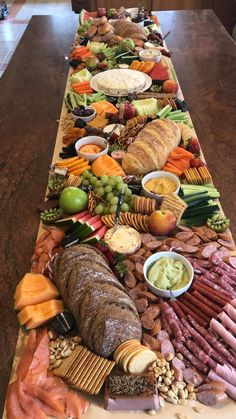 2020 Wedding Trends: 20 Charcuterie Board or Table Ideas - Hi Miss Puff charcuterie table ideas Charcuterie Recipes, Charcuterie And Cheese Board, Charcuterie Platter, Cheese Boards, Party Food Buffet, Party Food Platters, Cheese Platters, Antipasto, Appetizer Recipes