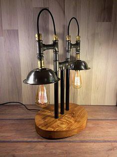 ANTIQUE LAMP  Peltre lamp  Rustic table lamp  Vintage lamp  Desk lamp  Steampunk Lamp   Edison  lamp  Oriental Lamp
