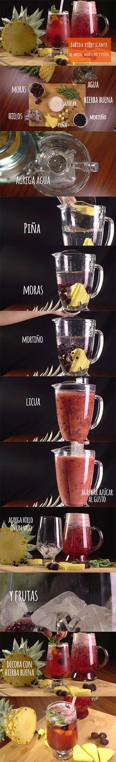 Disfruta de esta refrescante #bebida. #DateElGusto #Recetas