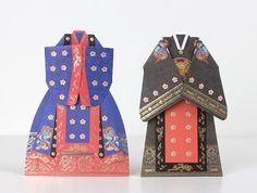 Hanbok korean traditional royal ceremony dress card