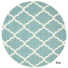 Hand-hooked Alexa Moroccan Trellis Wool Rug (6' Round) | Overstock.com