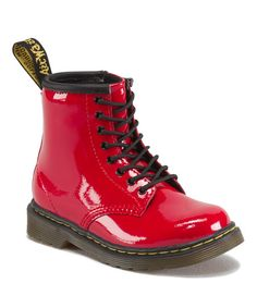 Dr. Martens Red Brooklee Patent Leather Boot | $24.99 on Zulily today!