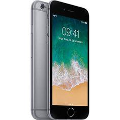 "iPhone 6s 128GB Cinza Espacial Tela Retina HD 47"" 3D Touch Câmera 12MP << R$ 199900 >>"