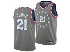 Philadelphia 76ers JOEL EMBIID Nike 2018 NBA Men s City Swingman Jersey 7ac420129