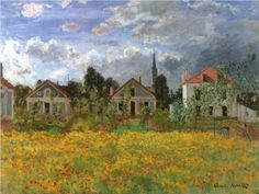 Houses+at+Argenteuil+-+Claude+Monet