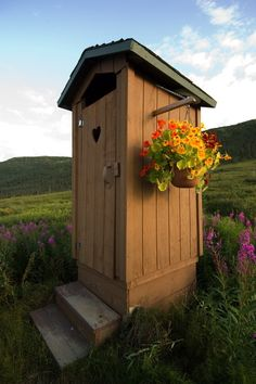 Camp Denali Lodge, Alaska. Each cabin has its own private outhouse