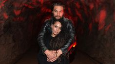 Jason Momoa and Lisa Bonet at