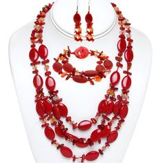 "19"" Red Coral and Stone Chips Necklace Bracelet and Earri... https://www.amazon.com/dp/B007BQCQ2G/ref=cm_sw_r_pi_dp_Mo3Kxb67D5VBC"
