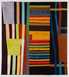Gallery Lines - Valerie Maser-Flanagan Fiber Artist Colchas Quilting, Quilting Designs, Quilting Ideas, Quilt Patterns, Gees Bend Quilts, Contemporary Quilts, Quilt Modern, Charm Quilt, String Quilts
