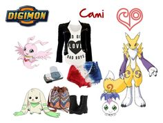 """Cami Digimon Travel!!!"" by fany-812 ❤ liked on Polyvore featuring Balmain and Naughty Monkey"