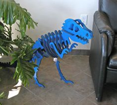 DIY - Dinosaur model laser cut. 3d t-rex dinosaur model puzzle skeleton. mdf. corel cdr free download file