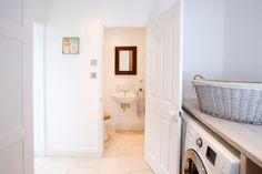 WC in Side Return Extension, Peckham SE15, London, Home Extension Ideas, Open Plan Living Design, Wicker Landry Basket, Landry Room, Small Bathroom