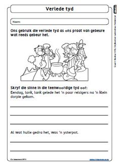 Verlede Tyd Gr3 T3 E Clroom Afrikaans Language, First Grade Math Worksheets, Teaching Skills, Second Language, Grade 3, English Vocabulary, Science Experiments, School Projects, Learn English