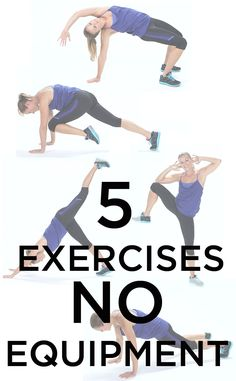 You can work out anywhere with these 5 moves! No equipment needed and they are all full-body exercises.