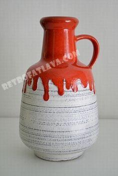 ES Keramik vase 818/20    Fat Lava