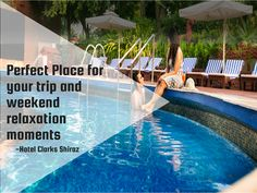 Enjoy the relaxing atmosphere of our swimming pool by the hotel with the bar and restaurant just a minute away. #Swimmingpool #HotelClarksShiraz #Relaxation