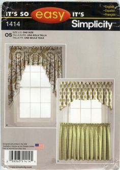 Simplicity 1414 Window Treatments. Easy Sewing PatternsSimplicity ...