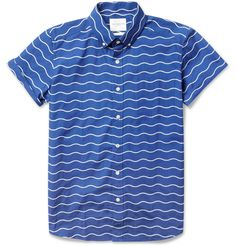 Saturdays; Esquina wave print shirt.