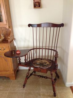 Writing Arm Chair crafted by Ebenezer B. Tracy (1744-1803)LisbonConnecticut (Traces of old green paint can still be seen) | FoLK ArT aNd ANtiQUeS ... & Writing Arm Chair crafted by Ebenezer B. Tracy (1744-1803)Lisbon ...