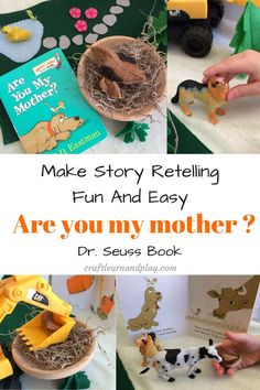 Are You My Mother ? - Story Retelling Activities For Preschool. Fun Creative Idea For Kids With Making Felt Bird Mommy And Baby. Snap For Free Sewing Pattern . Retelling Activities, Animal Activities, Craft Activities For Kids, Infant Activities, Preschool Ideas, Library Activities, Preschool Literacy, Activity Ideas, Learning Activities