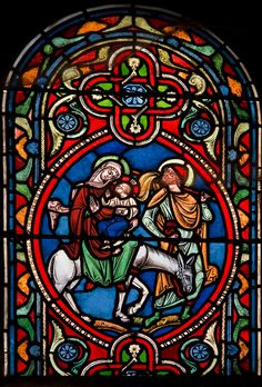 Stained glass at Riom, Auvergne, c.early 15th century