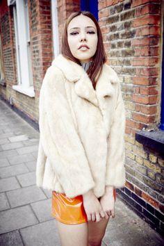 1960s Margo Cream Cropped Mink Fur Coat