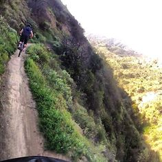 "The Famous ""Luge"" of Southern California chasing my brother down the trail."