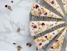 Pistachio rose shortbread is a lovely, springtime twist on this easy and traditional cookie! Round Cake Pans, Round Cakes, Rose Petal Uses, Dried Rose Petals, Tart Pan, Springform Pan, Yummy Food, Tasty, Molde