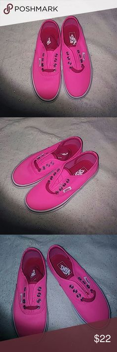 Selling this Nib girl neon pink vans on Poshmark! My username is: glitters0629. #shopmycloset #poshmark #fashion #shopping #style #forsale #Vans #Other