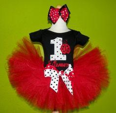 lady bug first birthday outfits | Polka Dot Red Ladybug Birthday Tutu Outfit