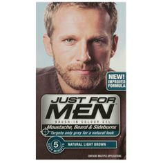 Just For Men Brush In Colour Gel Natural Light Brown (M25) Facial Hair   £6.80 (FREE UK Delivery)  http://www.123hairandbeauty.co.uk/hair-products-c1/mens-c8/just-for-men-just-for-men-brush-in-colour-gel-natural-light-brown-m25-facial-hair-p531