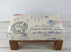 Ottoman rustic ottoman footstool travel decor living