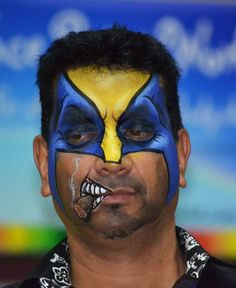 Wolverine by Nick Wolfe. Nick Wolfe is teaching workshops in Australia in November 2014 with the Face Painting School! Visit www.facepaintingschool.com.au for details and how to reserve your seat. Sydney, Perth, Adelaide and Cairns. Limited seats. Act quick.