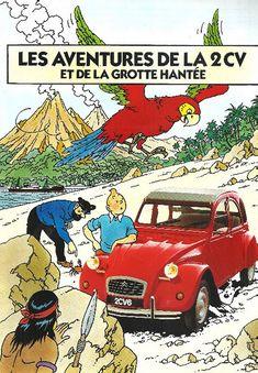 Tintin Cartoon Movie Tin Sign Metal Plate Iron Painting Kids Room Wall Bar Coffee Home Art Craft Decor Comic Movies, Cartoon Movies, Comic Books, 2cv6, Kids Room Paint, Car Posters, Automotive Art, Car Humor, Car Wallpapers